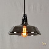 Vintage San Antonio Pendant Light with Ash Black, Clear Glass and Vintage Colours, compatible with LED Edison Light Bulbs from Lux-Lumens, Singapore's Fully-Online Lighting Retail for BTO, Resale, EC, Condo, Landed, Restaurants, Cafes, Hotels & Retail Shops. Free-Delivery, No Minimum Purchase in Singapore!