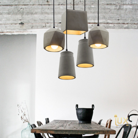 Vintage Industrial Tennessee Pendant Light, Made from Real Cement. from Lux-Lumens, Singapore's Fully-Online Lighting Retail for BTO, Resale, EC, Condo, Landed, Restaurants, Cafes, Hotels & Retail Shops. Free-Delivery, No Minimum Purchase!
