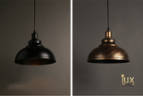 Vintage Industrial Virginia Pendant Light with Matte Black Oven-baked Paintwork fitted with LED Edison Bulbs for a complete Industrial feel from Lux-Lumens, Singapore's Fully-Online Lighting Retail for BTO, Resale, EC, Condo, Landed, Restaurants, Cafes, Hotels & Retail Shops. Free-Delivery, No Minimum Purchase!