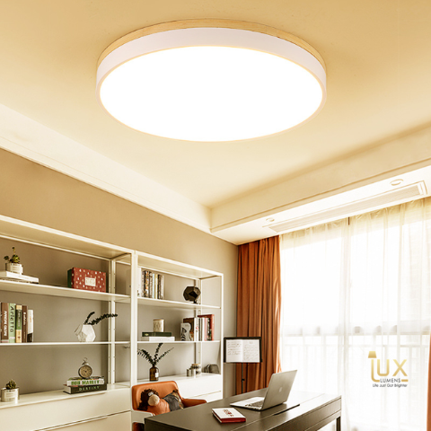 Lux-Lumens | Singapore's Fully-Online Lighting Retail - Pendant Lights, LED Ceiling Lights & Fans. Scandinavian Wood Acrylic Finish LED Ceiling Light Scene Display. Instant utility savings of up to 40% by choosing LED Ceiling Lights. Free Island-wide Delivery - No Minimum Purchase for all BTO, Resale, EC, Condo, Restaurants, Cafes, Hotel & Retail Lighting.