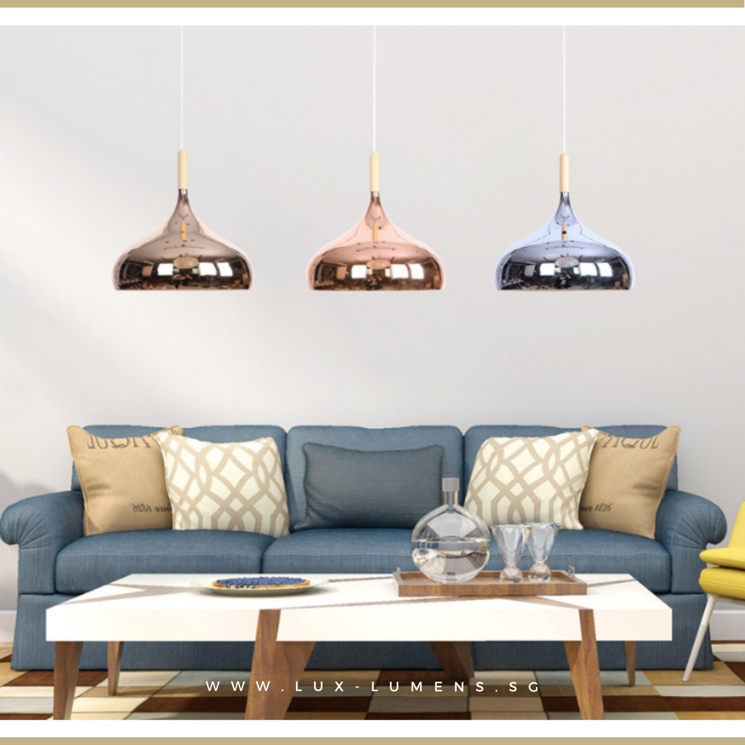 Singapore's Online Lighting Retail - Pendant Lights, LED Ceiling Lights & Wall Lamps. Modern meets Luxury with the Rose Gold Pendant Light. Instant utility savings up to 40% - Fit the lamp with LED Bulbs. Free Delivery - No Minimum Purchase for all BTO, Resale, EC, Condo, Restaurants, Cafes, Hotel & Retailers