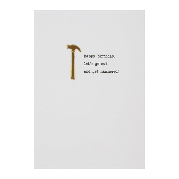 Get Hammered Birthday Card | Gift Pop Boutique