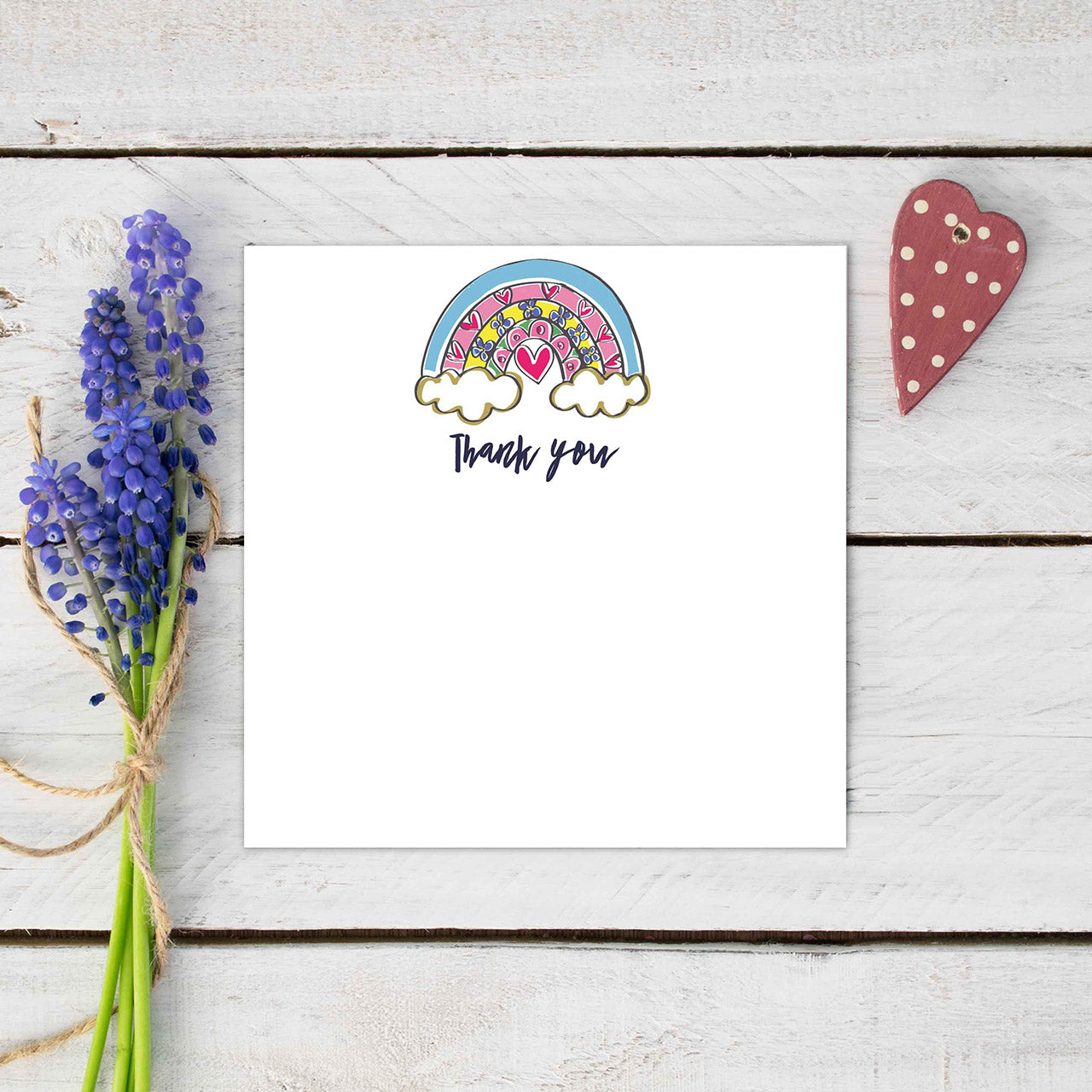 Pack of 10 Rainbow Thank You Cards | Gift Pop Boutique