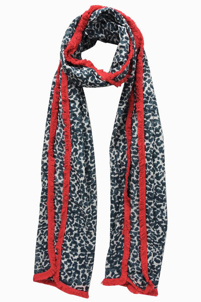 Leopard Print Scarf –  Grey Fuchsia | Gift Pop Boutique