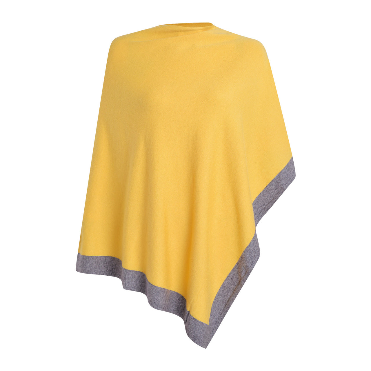 Mustard & Grey Poncho | Gift Pop Boutique