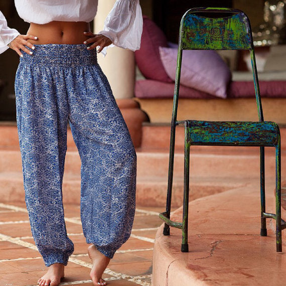 Yoga Pants  Cobalt Blue Snakeskin | Gift Pop Boutique
