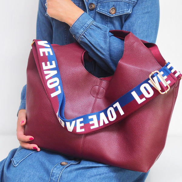 LOVE Strap - Navy and Plum