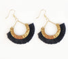 Kathy Tassel Earrings - Black | Gift Pop Boutique