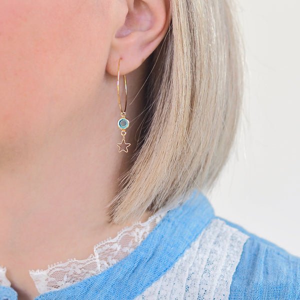 Blue Lagoon Star Earrings