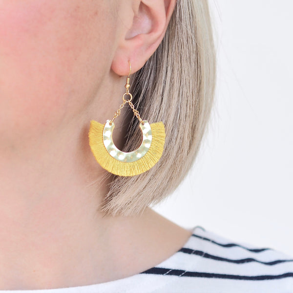Flamenco Earrings - Yellow / Gold