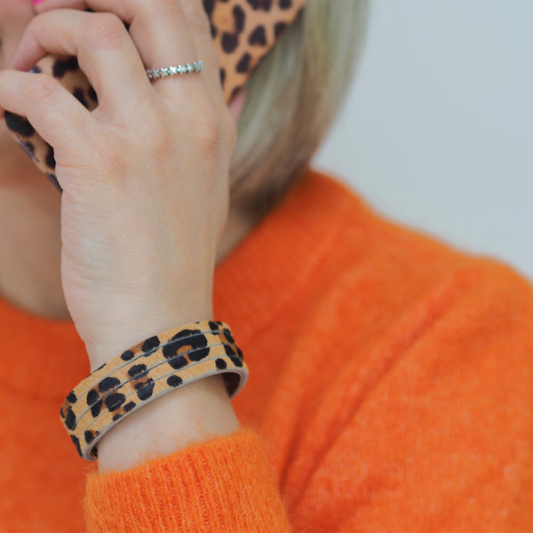 Narrow Leopard Cuff | Gift Pop Boutique