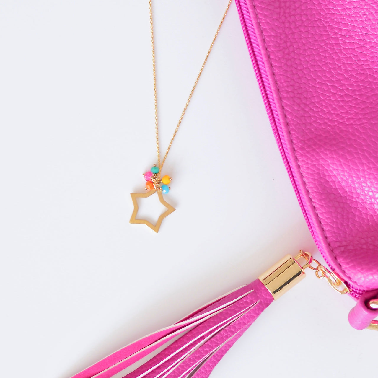 Rainbow Rock Star Necklace - Gold