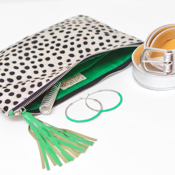 SECOND QUALITY ONLLY The Dottie Clutch Bag – Green | Gift Pop Boutique