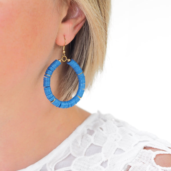 Eternity Hoop Earrings - Electric Blue | Gift Pop Boutique
