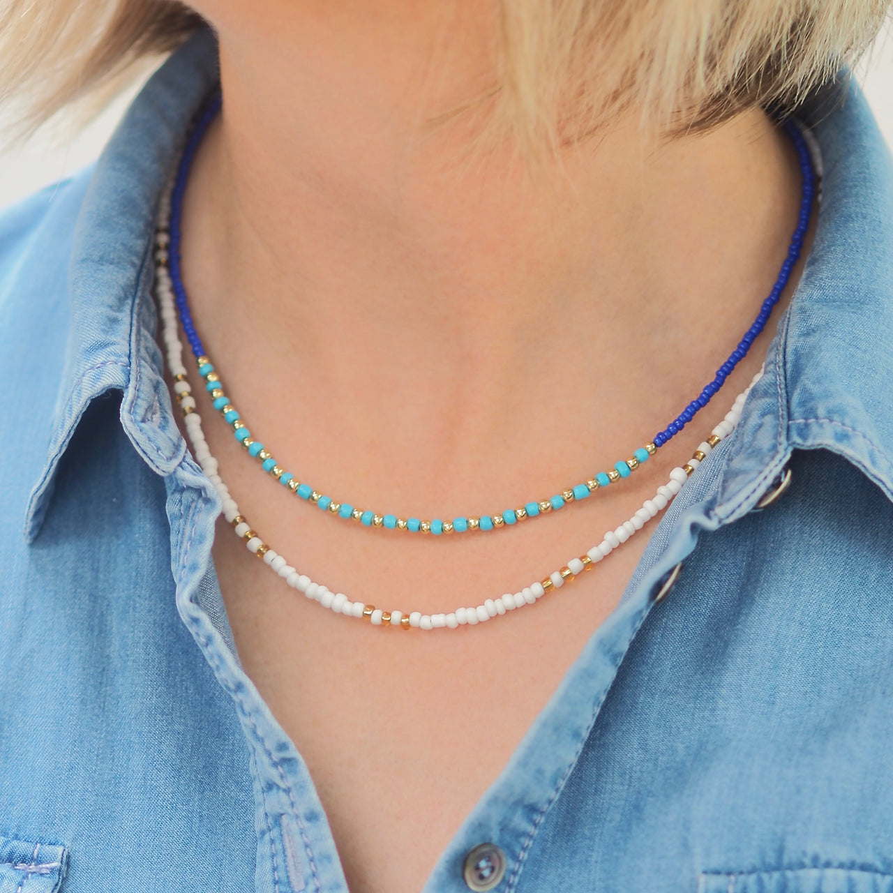 Asha Necklace - Bright Blue