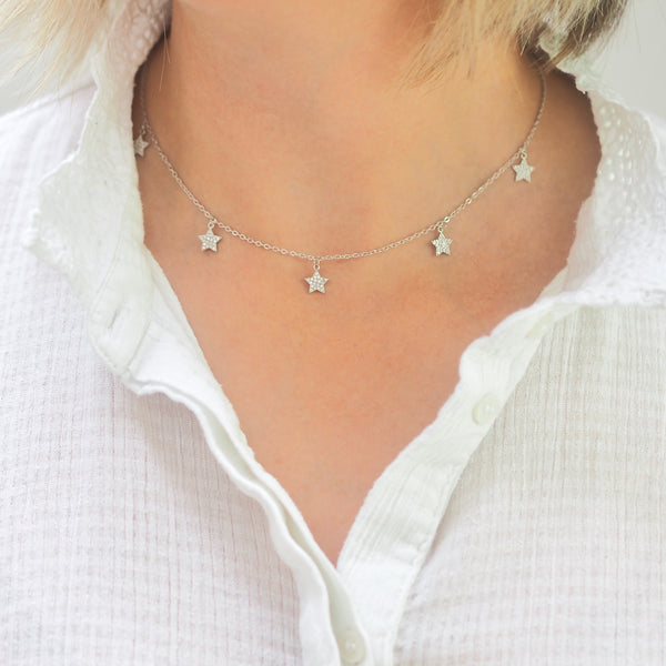 Lucky Stars Necklace - SILVER