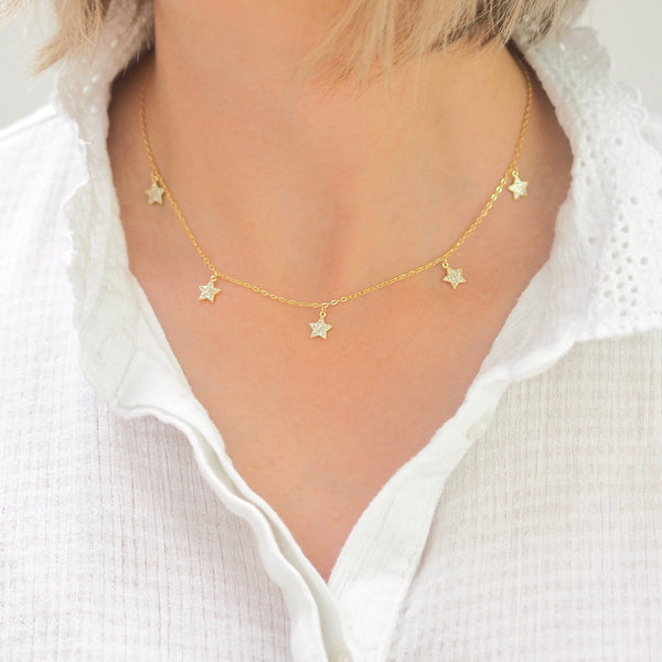Lucky Stars Necklace - GOLD