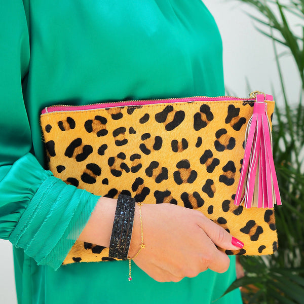 The Moggy Clutch - Pink Tassel | Gift Pop Boutique