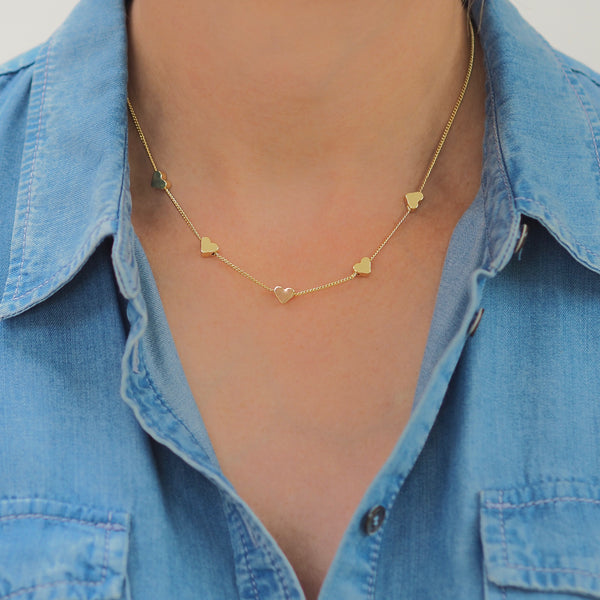 Gold Heart Necklace | Gift Pop Boutique