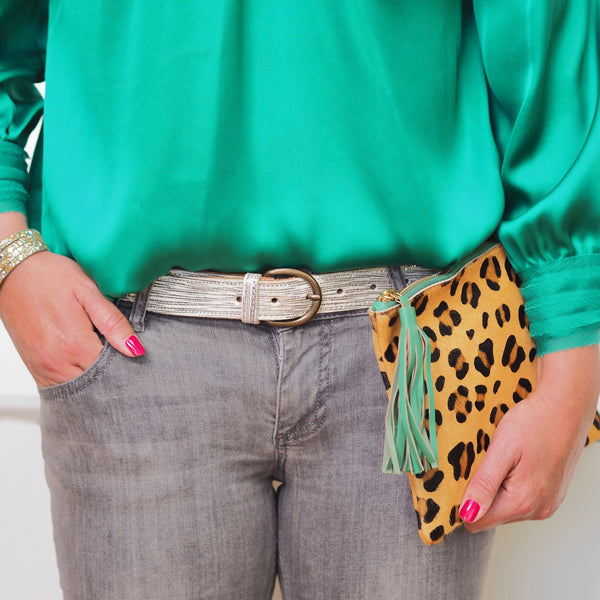 The Moggy Clutch - Green Tassel | Gift Pop Boutique