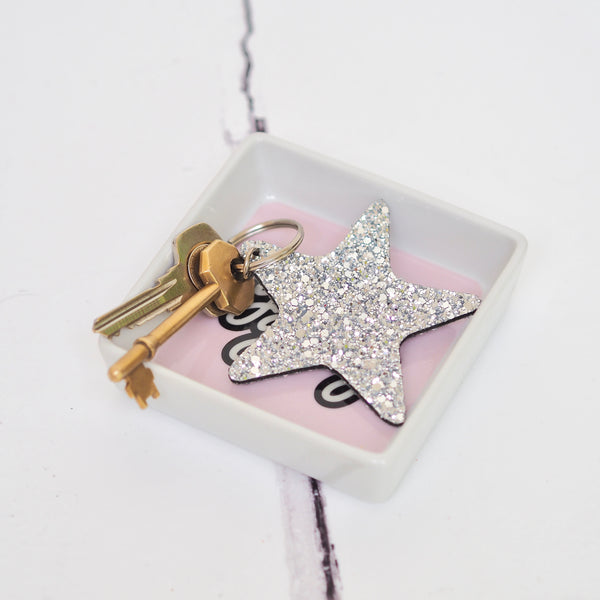Glittery Star Keyring Silver | Gift Pop Boutique
