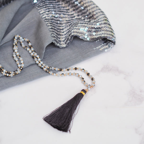 Tassel Necklaces - Grey | Gift Pop Boutique