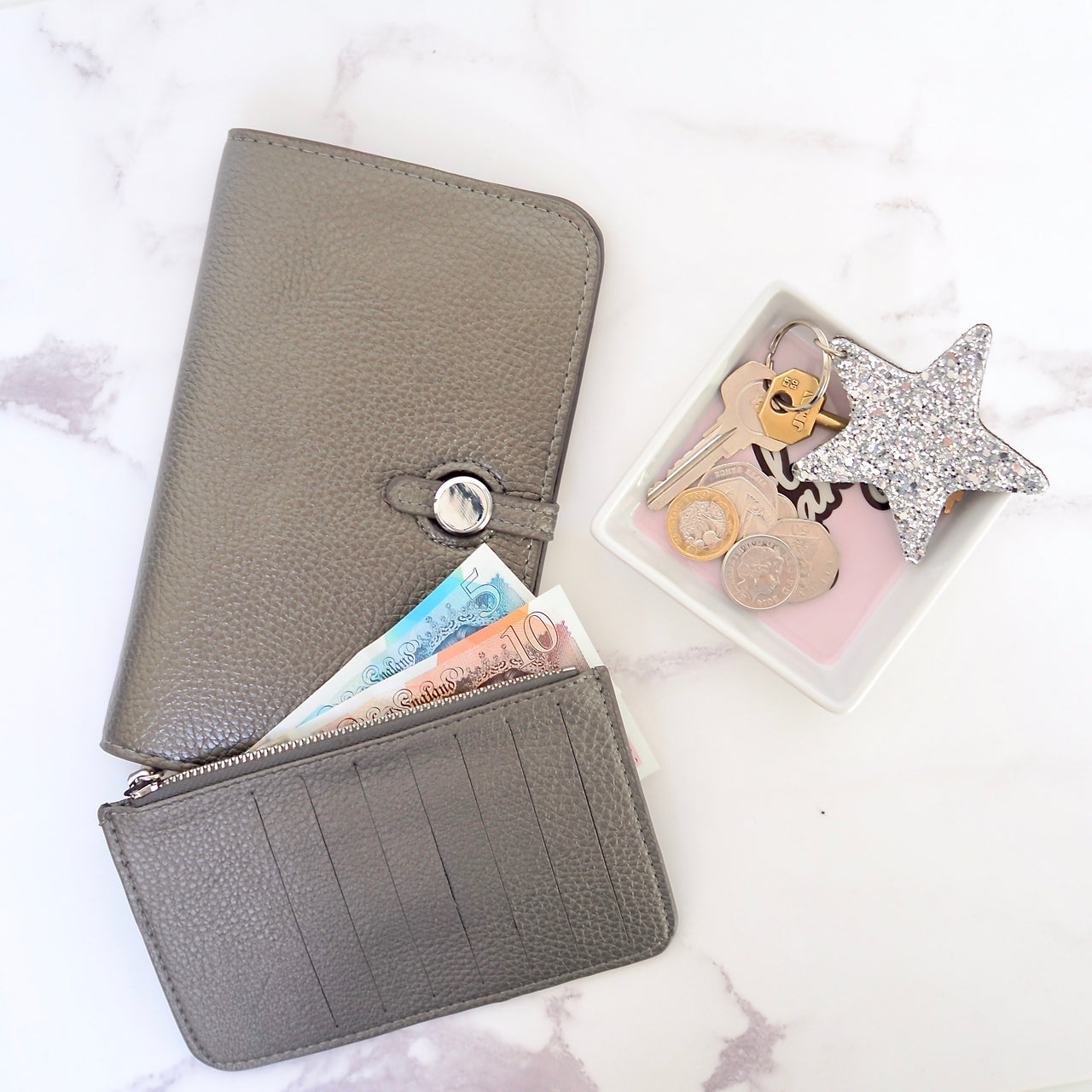Wanderlust Wallet - Pewter | Gift Pop Boutique