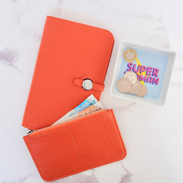Wanderlust Wallet - Orange | Gift Pop Boutique