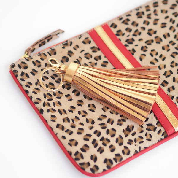 Gold Leather Tassel