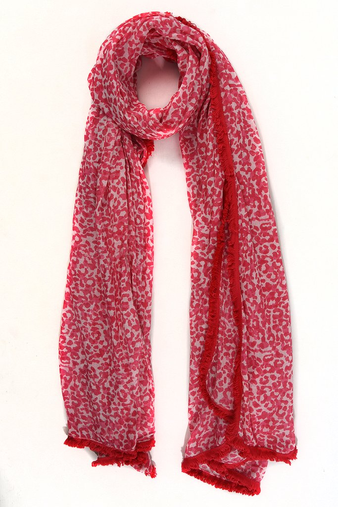 Leopard Print Scarf –  Pink Fuchsia | Gift Pop Boutique