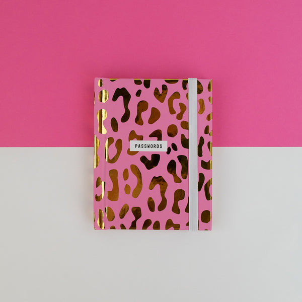 Pink Leopard Print Passwords Book | Gift Pop Boutique