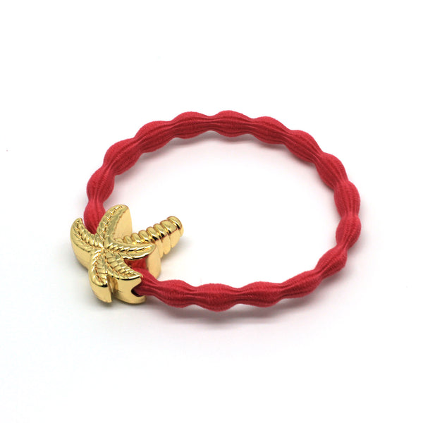 Gold Palm Tree & Coral Hairtie / Wristee | Gift Pop Boutique