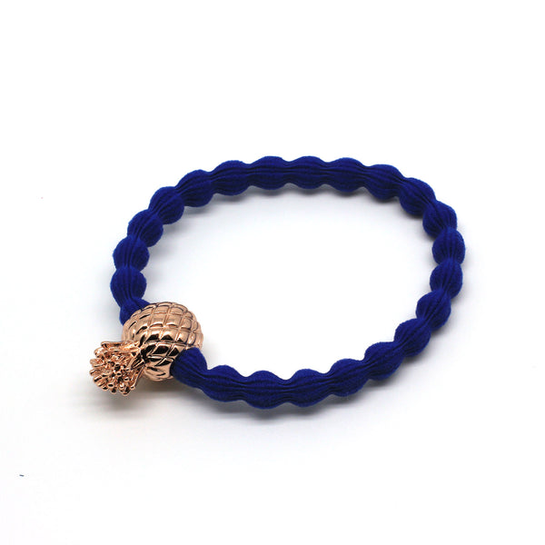 Rose Gold Pineapple & Royal Blue Hairtie / Wristee | Gift Pop Boutique