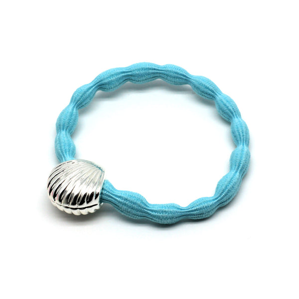 Silver Shell & Pale Blue Hairtie / Wristee | Gift Pop Boutique