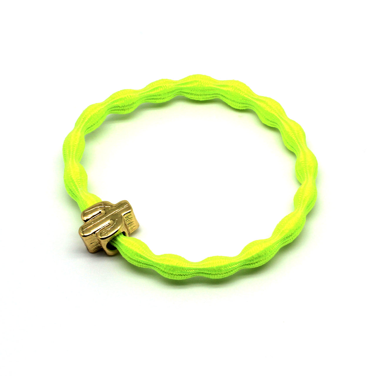 Gold Cactus & Neon Yellow Hairtie / Wristee | Gift Pop Boutique