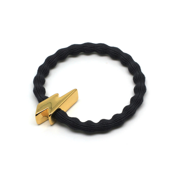Gold Bolt & Grey Hairtie / Wristee | Gift Pop Boutique