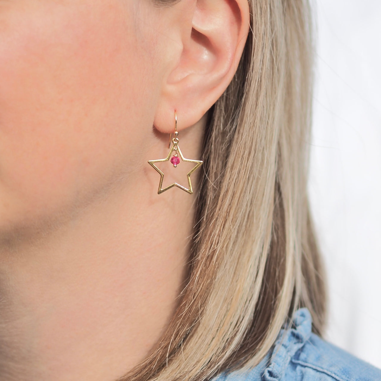 Summer Rockstar Earrings - Gold/ Pink