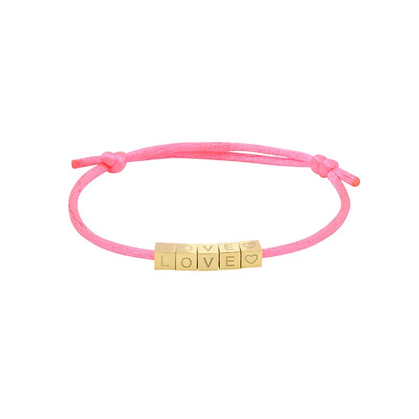 Love Blocks Bracelet PINK | Gift Pop Boutique