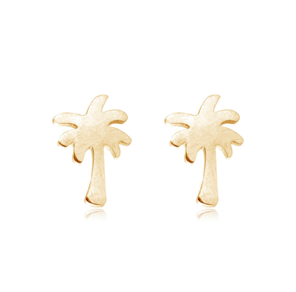 Palm Tree Studs GOLD | Gift Pop Boutique