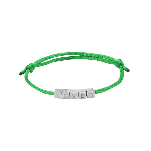 Love Blocks Bracelet GREEN | Gift Pop Boutique