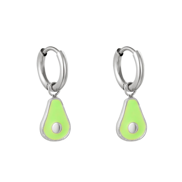 Mini Hoop Little Avocado Silver