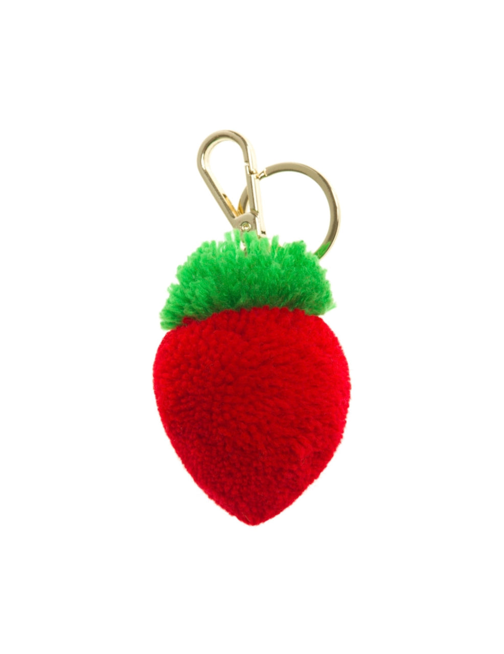 Strawberry Pom Pom Keyring