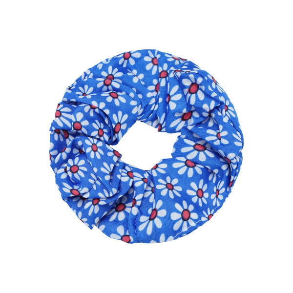 Spring Flowers Scrunchie - Blue