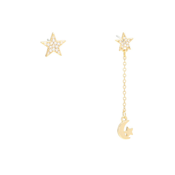 Fly Me To The Moon Earrings Gold | Gift Pop Boutique