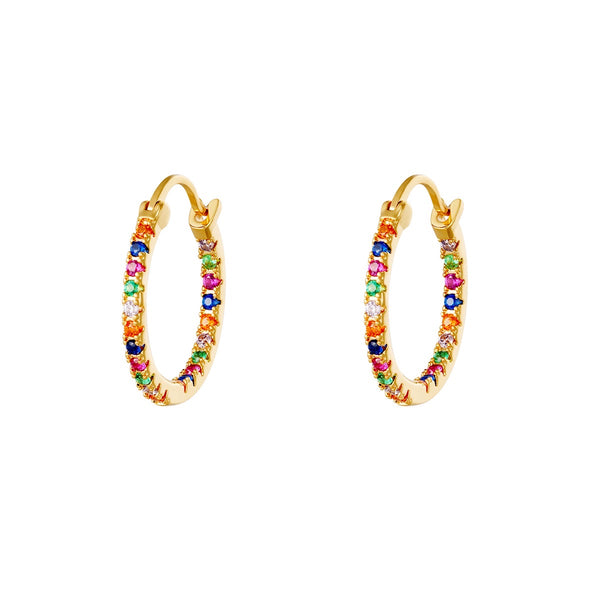 Rainbow Hoops - Gold