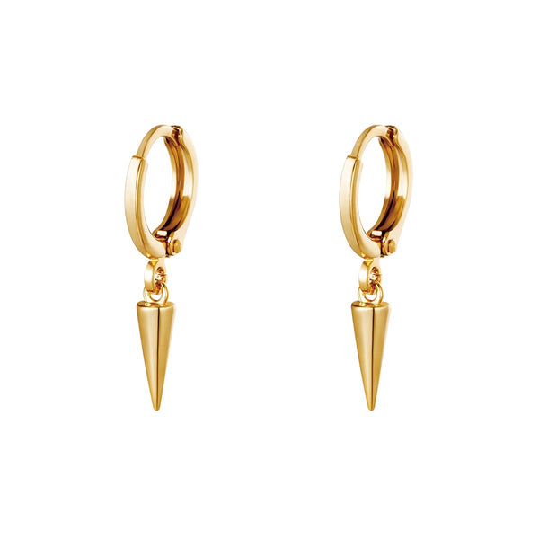 Mini Hoop Simple Cone - Gold
