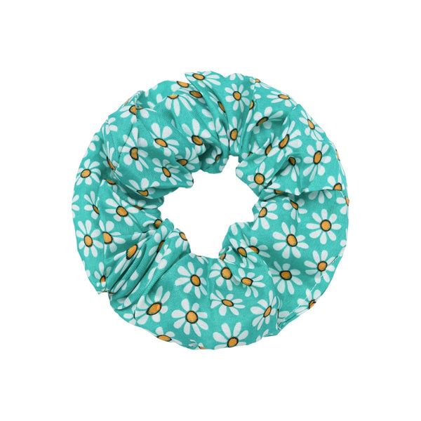 Spring Flowers Scrunchie - Green