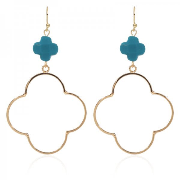 Lucky Turquoise Earrings - Gold