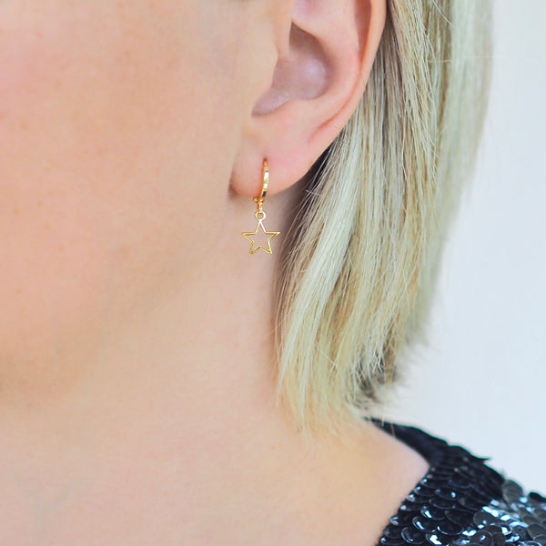 Mini Hoops Earrings - ROCK STAR GOLD | Gift Pop Boutique