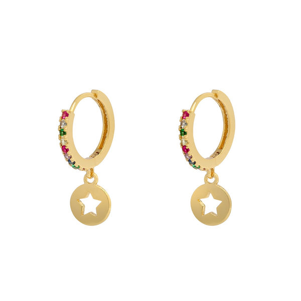 Mini Hoops Earrings - Shiny Star | Gift Pop Boutique